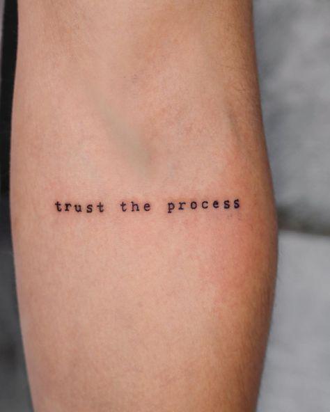 """""""Trust the process"""" // minimalist tattoo by ... - Carozzi Oliva"""