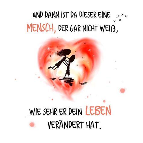 """💛 Und dann ist da dieser eine #Mensch,der gar nicht weiß,wie sehr er dein #Leben verändert hat. 😘 """"Schön,dass es dich gibt"""" 💖 💟  #herzallerliebst  #spruch #Sprüche #spruchdestages #motivation ️  #thinkpositive ⚛  #themessageislove"""