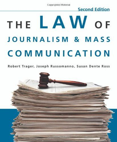 The Law Of Journalism And Mass Communication Mass Communication Journalism Communication
