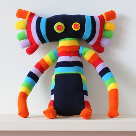 Zarzak from www.stupidcreatures.com  Great kit with two pairs of socks, filling and instruction book