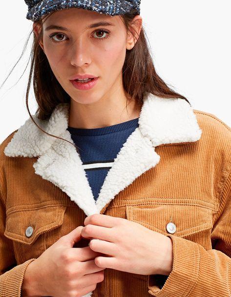 Veste velour sherpa femme