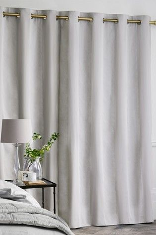 Cotton Waffle 300 Thread Count Blackout Lined Eyelet Curtains In 2020 Curtains Lined Curtains Panel Curtains