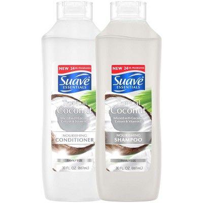 Suave Essentials Nourishing Shampoo For Dry Hair Tropical Coconut 30 Fl Oz In 2021 Coconut Shampoo Nourishing Conditioner Suave Shampoo