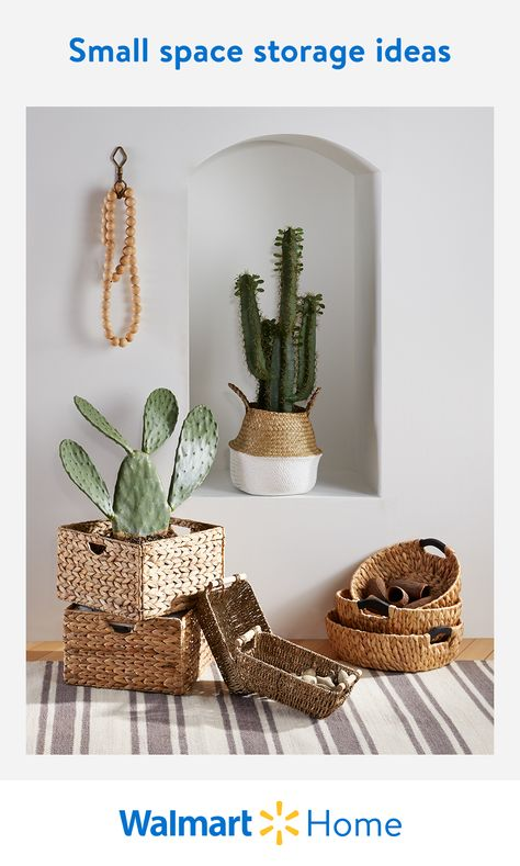 Walmart has smart storage solutions to suit your space. Shop affordable, stylish vertical storage, baskets, bins, and more organization ideas to make the most of your home. #WalmartHome