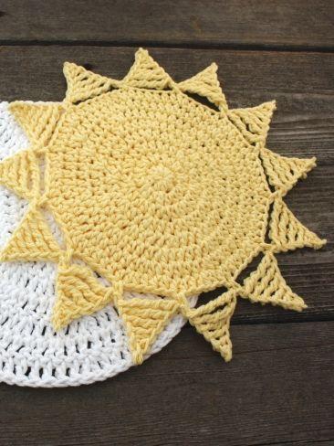 Sunny dishcloth