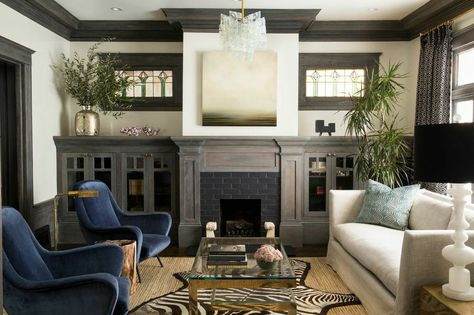 """Easy Home Upgrades To Try This Weekend  #refinery29  http://www.refinery29.com/affordable-home-updates#slide-4  """"I mixed this classic sofa with a pair of vintage chairs,"""" Wick says. """"Look for chairs at the flea market or on a consignment site like Chairish, but be mindful of the fabric. Reupholstering can be expensive, but I found these as is."""""""