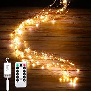 LE 3Mx3M 8 Modi Lichtervorhang Außen/&Innen Weihnachts Lichterkette Warmweiß
