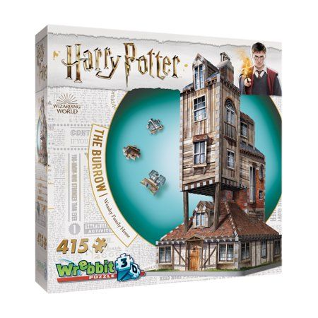 Harry Potter Collection The Burrow Weasley Family Home 3d Puzzle 415 Pcs Walmart Com Harry Potter Collection Harry Potter Puzzle The Burrow
