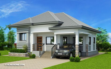 Modern Bungalow House Design With Three Bedrooms