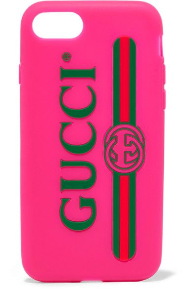 newest 3ab9b e8ee9 GUCCI cool pink Silicone iPhone 7 case in 2019 | GUCCI - Luxury ...