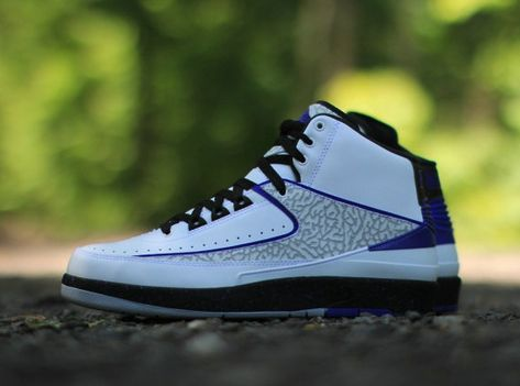 new concept b73c3 08955 Air Jordan 2 Elephant Print White Dark Concord Black Wolf Grey 385475 153