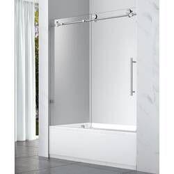 34 W X 58 H Frameless Tub Door Tub Doors Shower Doors Frameless Shower Doors