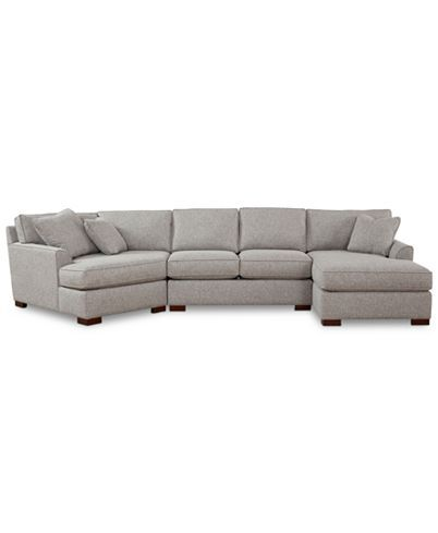 Furniture Closeout Carena 3 Pc Fabric Sectional Sofa With Armless Loveseat And Cuddler Chaise Created For Macy S Reviews Furniture Macy S Fabric Sectional Sofas Fabric Sectional Cuddler Sectional