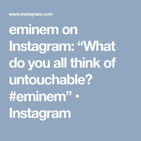 """eminem eminem on Instagram: """"What do..."""
