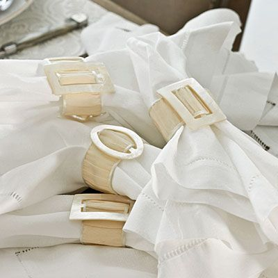Decorative napkin rings for party! Can make these out of thick card stock, and even glitz them up with rhinestones and fancy ribbons!