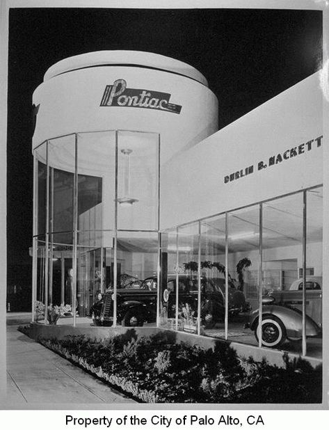 Streamline Moderne Pontiac dealership building 1936.  Palo Alto, California