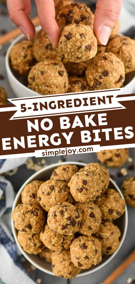 Five Ingredient No Bake Energy Bites