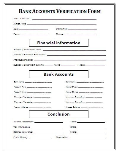 6 Bank Account Word Forms Word Excel Pdf Templates Employment Form Being A Landlord Real Estate Forms