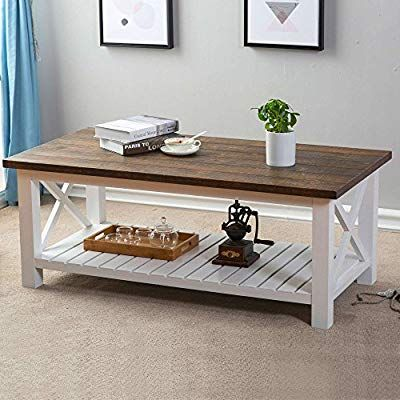 Amazon Com Furnichoi Wood Rustic Coffee Table Farmhouse Vintage Cocktail Ta Rustic Living Room Farmhouse Style Coffee Table Table Decor Living Room