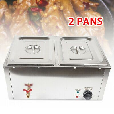 Ad Ebay Commercial Food Warmer Steam Table Steamer Countertop Cooking 2 Pan 10l 110v Usa Food Warmers Steam Tables Electric Foods