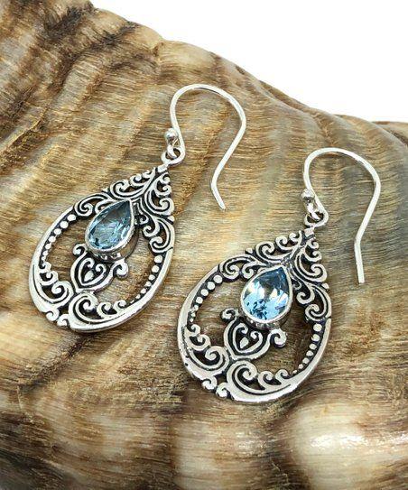 Topaz Shimmer Sterling Silver Earrings Drop Earrings Earring Jewelry Sterling Silver Topaz Shimmer in Sterling Silver