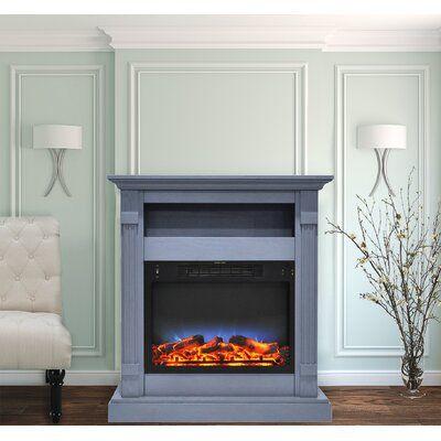Latitude Run Ethen Electric Fireplace Electric Fireplace White