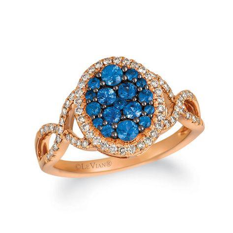 Le Vian® Blueberry Sapphires™ and Crème Brûlée Diamonds® 1