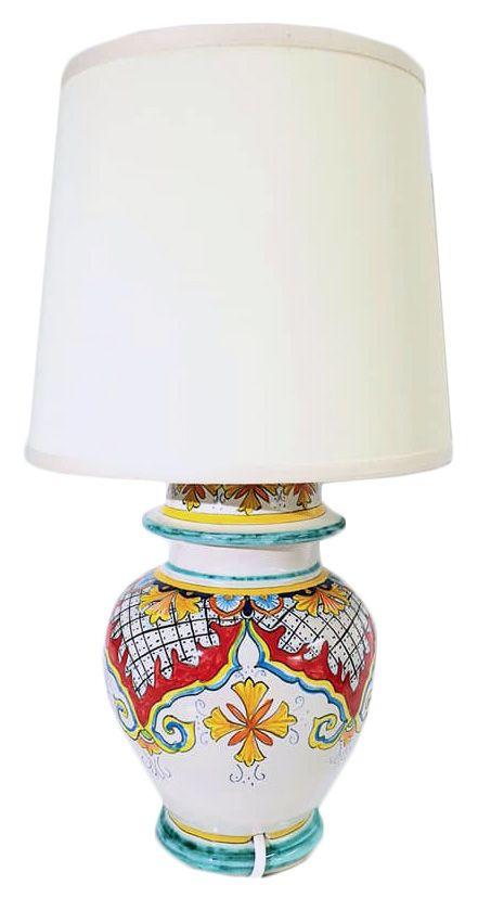 Lampade In Ceramica Di Vietri.Coppia Lampade In Ceramica Vietrese Decoro Ornato Molto Elegante Raffinato Al Punto Giusto Oggetti Per Illuminare Qual Lampade In Ceramica Lampade Paralumi
