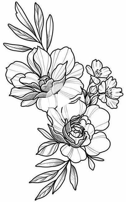 Floral Tattoo Design Dessin Beau Simple Fleurs Body Art