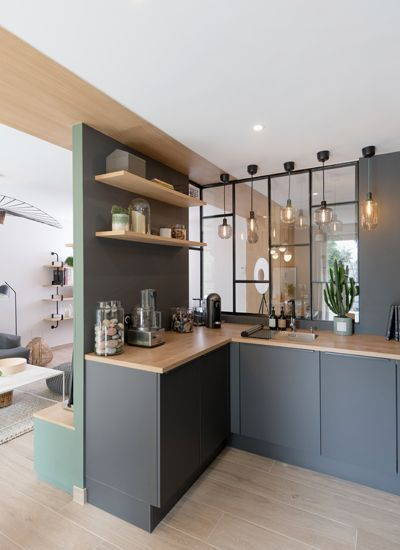 Peeking On Modern And Minimalist Room Partition With Half Glass On It Decohoms In 2020 Interior Design Kitchen Interior Architect Home
