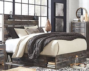Cambeck Queen Panel Bed With Side Storage Ashley Furniture Homestore Queen Panel Beds Panel Bed Bed Storage