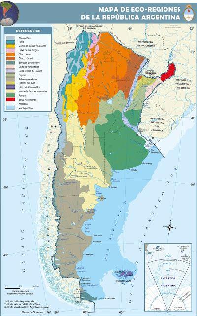 Ecorregiones Mapa De Argentina Mapas Argentina