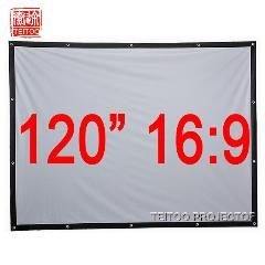 """120/"""" Projector 16:9 Folding Projection Screen Matte White Home HD Movie Theater"""