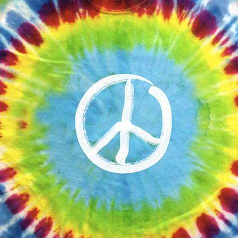 4d5f7cb2c Tie Dye Glow in the Dark Peace Sign T-Shirt by Hippo-Tees in 2019 ...