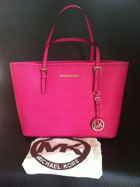 MK pink tote bag