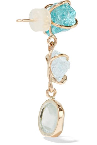 14-karat Gold, Apatite And Turquoise Earrings - one size Melissa Joy Manning