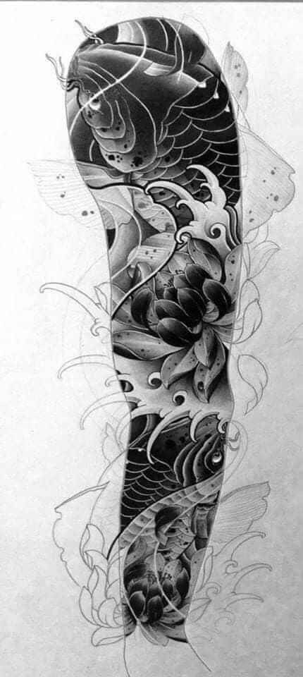 Pin By King Aldrin Avelin On Sleeve Tattoos Japanese Tattoo Japanese Tattoo Designs Koi Tattoo Sleeve