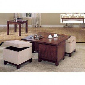 Coffee Table With Pull Out Ottomans 5 Coffee Table Square