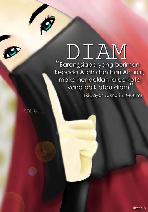 Lebih Baik Diam Motivasi Islam Dan Kutipan Anak Perempuan