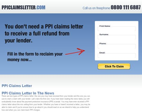 There are two types of PPI claims letter the one you may have - claims letter