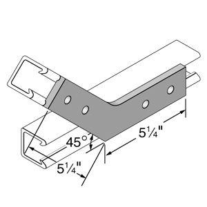 20p 2540 Unistrut Fiberglass 45 Degree Channel Fitting Fiberglass Fittings Steel