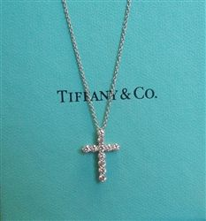 14K YELLOW GOLD SMALLER DIAMOND CROSS PENDANT NECKLACE with 16 ... da630c8e31f0
