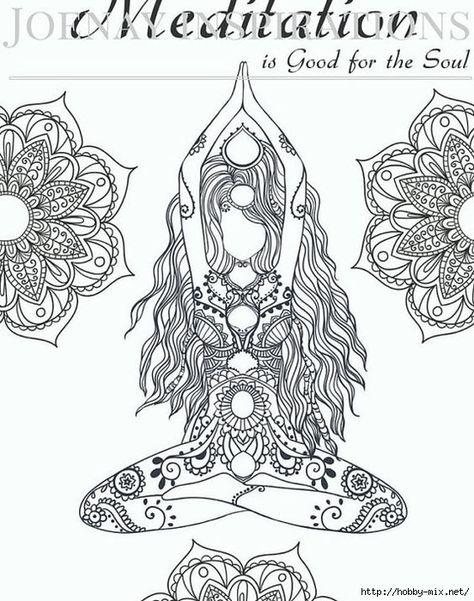 Yoga Meditation And Mandalas Shablon Risunki Dlya Raskrashivaniya Knizhka Raskraska Raskraski Dlya Pechati