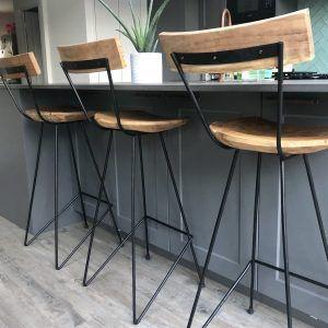 Industrial Bar Stool With Backrest Za Za Homes Industrial Bar