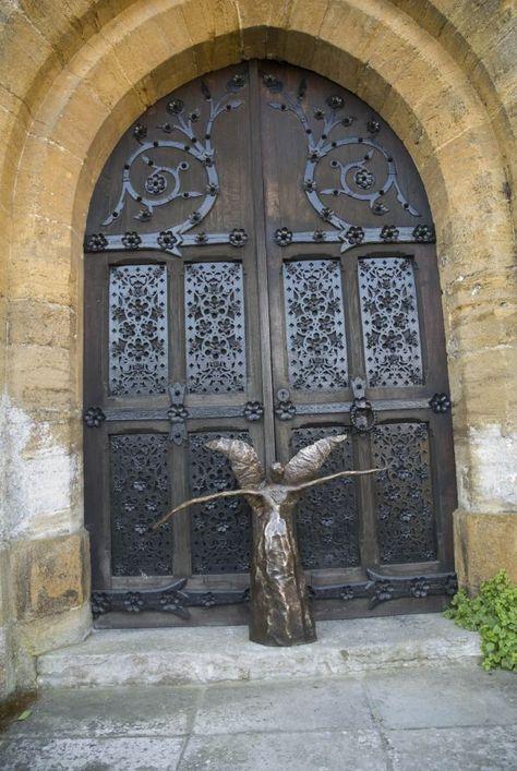 Foundry Cast Bronze #sculpture by #sculptor Elizabeth Rollins-Scott titled: 'Wind Sister (abstract Angel garden statue)'. #ElizabethRollinsScott
