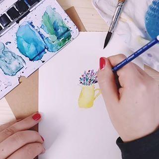 Lettering Blending Mit Brushpens Im Aquarell Look Lettering