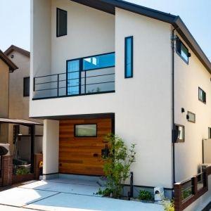 2階リビングの吹き抜けのある家 新築 西京区 O様邸 外観 住宅