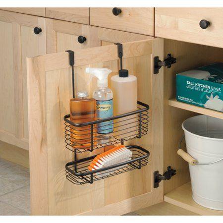Interdesign Kitchen Over The Cabinet Basket Silver Walmart Com Kitchen Basket Storage Diy Kitchen Storage Kitchen Organization