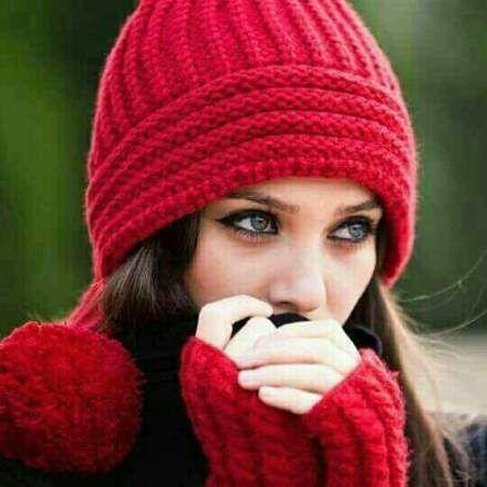 Photos For Girls صور بنات كيوت احلي خلفيات بنات للفيس بوك Red Hats Winter Cap Stylish Girl