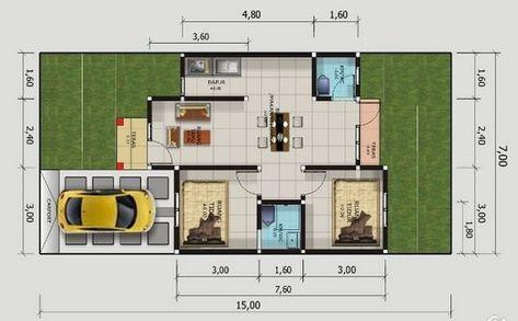 desain rumah minimalis type 50, 1 lantai dan 2 lantai
